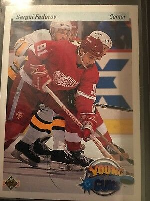 Sergei Fedorov - 1990-91 Upper Deck - ROOKIE - Detroit Red Wings - Young Guns