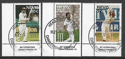 NEVIS 1997 CRICKETERS Set of 3v USED