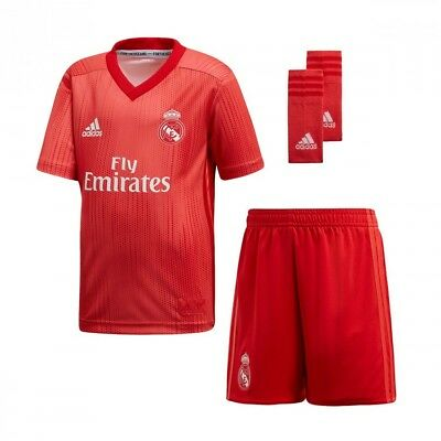 Vivid Enfant Third Madrid 32 Adidas Short Eur 2018 Real 2019 Red Ffn7P6