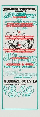 JIMI HENDRIX 1970 Benefit = POSTER Not Concert Ticket 3 SIZES 5 / 7.5 / 8.5 Feet