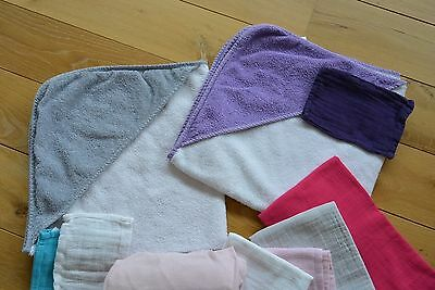 +++ Super Lot 2 essuies, 4 draps tetra, 1 drap housse, 3 gants +++