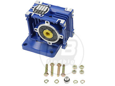 Square Flange Right Angle Gearbox Geared Speed Reducer For RV030 Ratio 1/80
