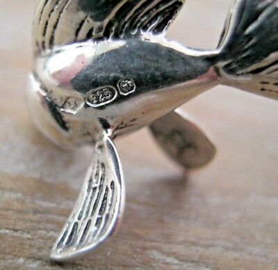 Pretty Antique Style Hallmarked Sterling Silver Miniature Goldfish Fish - Cleo