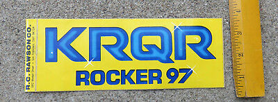 Original 1980s KRQR  Rocker 97 Bumper Sticker San Francisco Area  Radio Station