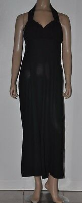 STEPHANELLE black vintage wide leg jumpsuit Sz 10 - 12