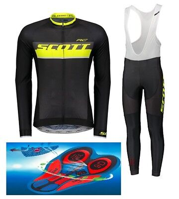 """SCOTT RC TEAM 018 cycling SET winter thermal 9D GEL PAD """"FAST DELIVERY"""""""