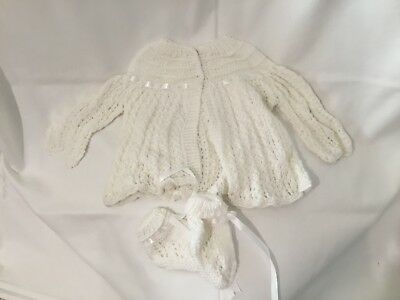 Matinee set hand knitted size 00