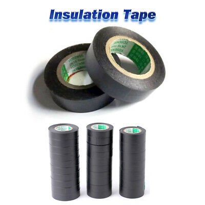 PVC Electrical Wire Insulating Tape Roll Black 20M Length 16mm Wide Black HL523