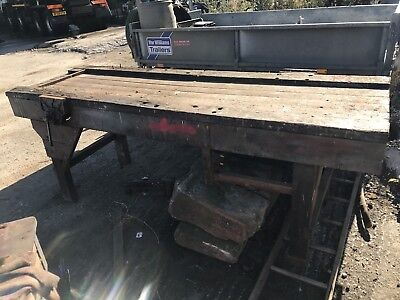 Vintage Industrial Workbench With Vice - Can Deliver