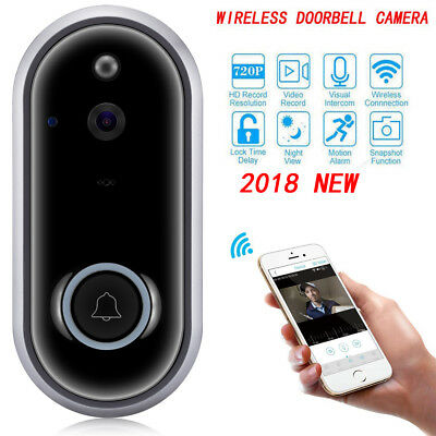UK Wireless Doorbell Camera WiFi Remote Ring Video Door Intercom IR Bell Phone