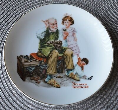 Norman Rockwell The Cobbler Plate See Pictures.