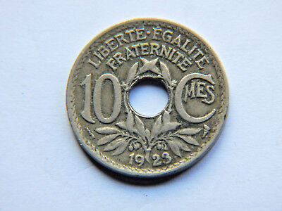 1923 And 1933 10 Cent French Coins.