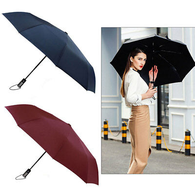 GARMAR Automatic Folding Umbrella Windproof Compact With 10 Fiberglass Frames