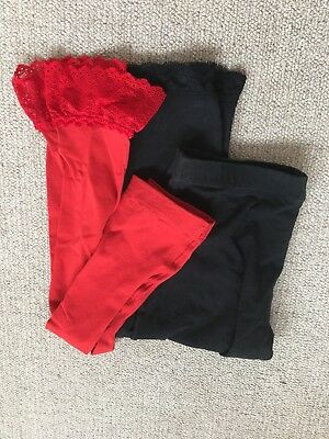 NWOT lot of x2 LACE leggings WOLFORD & FOREVER NEW sz S 8 10