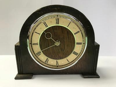Vintage Smiths Mantel Clock For Spares Or Repair