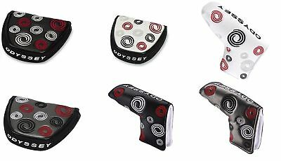 Brand New Odyssey Golf Head Cover Swirl Mallet or Blade Headcover Selection