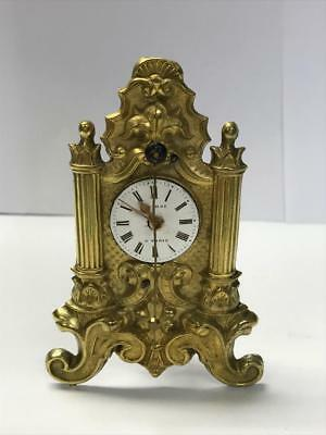 Antique French Time Piece, A. Paris On Dial. Spares Or Repair.