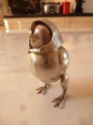 Solid Silver NOVALITY BIRD WEARING A HELMET Pepperette