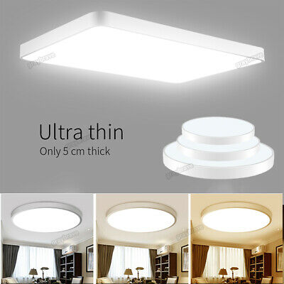 LED Panel Ceiling Down Light Kitchen Bathroom Living Cool/Warm White Dimmable UK