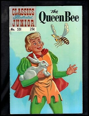 CLASSICS ILLUSTRATED JUNIOR #551 hrn576  FINE (QUEEN BEE) FREE SHIPPING ON $15+