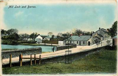 MILL LOCH AND BARRAS, LOCHMABEN Dumfriesshire postcard, SCARCE, Posted c1906