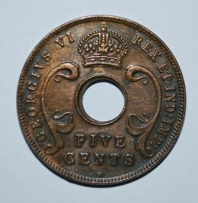 1937 East Africa 5 cent Coin