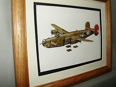 Consolidated B 24 Liberator WWII Bomber Model Airplane Box Top Art Color artist