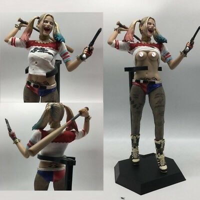 DC Crazy Toys Suicide Squad Harley Quinn 1/6TH Real Clothes 12'' PVC Figure Nb