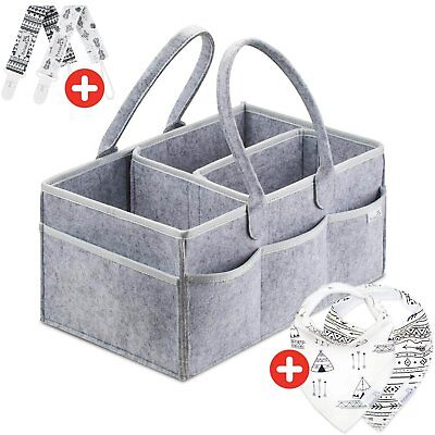 Putska Diaper Caddy Organizer: Portable Wipes Holder Bag for Changing Table and
