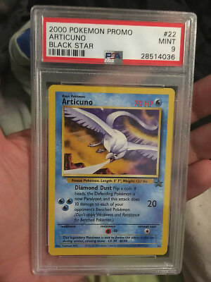 Pokemon Promo Black Star Articuno #22 PSA 9 MINT