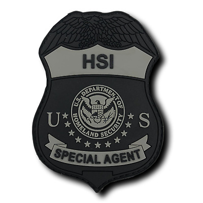 HSI SPECIAL AGENT subdued rubber PATCH with Hook-and-Loop