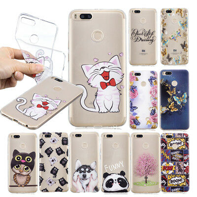 Clear Ultra Thin Slim Patterned Silicone Case Cover For Xiaomi Mi A1 Redmi S2 6A
