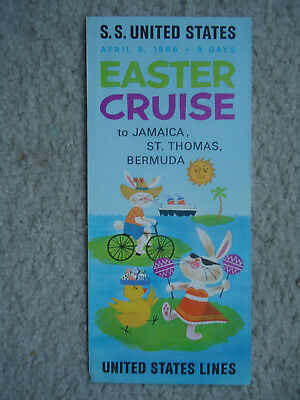 United States Lines - ss United States - Easter Cruise - Brochure - 1966