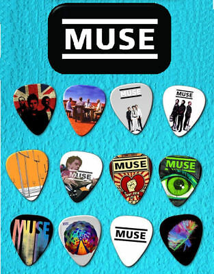 MUSE Guitar Pick Tin Includes Set of 12 Guitar Picks