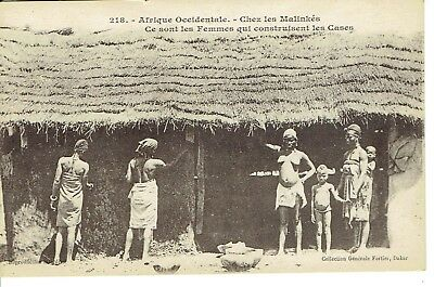 cpa Afrique Occidentale- Chez les Malinkés- coll. Fortin