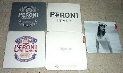 Collectable beer coasters - Set of 5 Peroni beer coasters (ITALY)