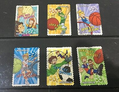Australian 2009 Lets Get Active Australia set of 6 S/A stamps used