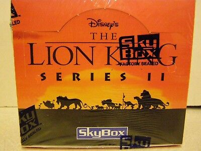 Disney's The Lion King Series 2 Trading Cards 36 pack SEALED BOX  288 cards LOOK