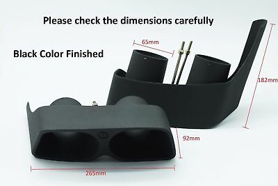 Quad Brabus Style Exhaust Pipe Tip Black For Mercedes C E S Gl Ml Gle Gls Cls