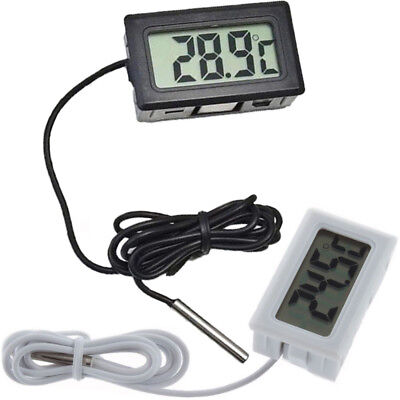Digital LCD Gauge Insert Probe Temperature Thermometer Thermograph for Aquarium