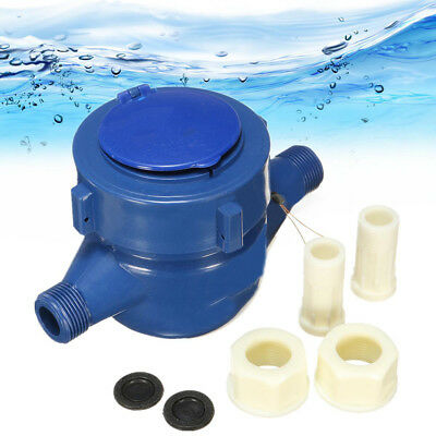 Dry Cold Water Measuring 15mm Meter Single Flow 1.0MPa Pressure 0.05(m3/h) Hot
