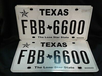 "Texas license plates ""The Lone Star State"" Matching pair"