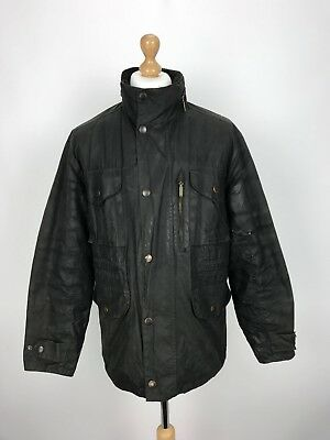 Barbour Mens Hooded Sapper Waxed Country Jacket Coat Medium M Green