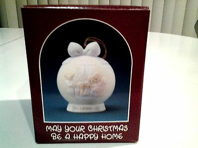 "Precious Moments ""May Your Christmas Be A Happy Home ."" New Unopened Box. 1990"