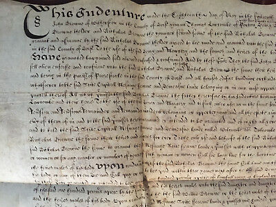 1641Charles1 Indenture Settlement by Feoffment Mansion in Dorset,Browne,Larcombe