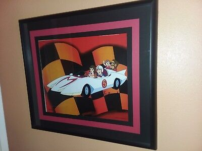 Speed Racer Enterprises Lithograph Signed Peter Francis & Corinne Orr - Framed