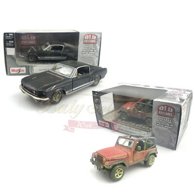 NEW Maisto Old Friends 1:24 Car Diecast Model Ford 1967 Mustang GT Jeep Wrangler