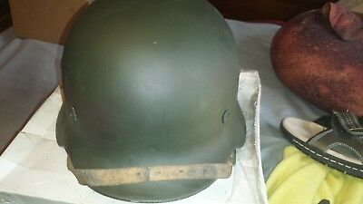 M 35 German helmet with liner & chinstrap,  with dome stamp