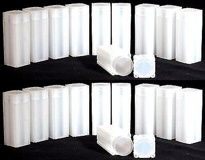 LOT OF 20 USED NUMIS BRAND 21mm NICKEL SIZE SQUARE COIN TUBES !