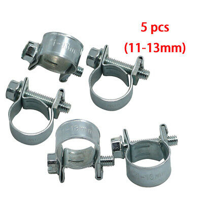 8PCS METAL ADJUSTABLE Car Hose Clip Clamps Pipe Tube Tight